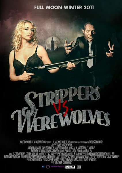 Ali Bastian and Martin Kemp in Strippers vs Werewolves (2012)