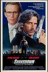 Sam Elliott and Peter Weller in Shakedown (1988)