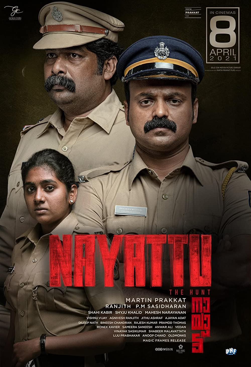 Nayattu 2021 Malayalam Movie 1080p HDRip ESub 2.2GB x264 AAC