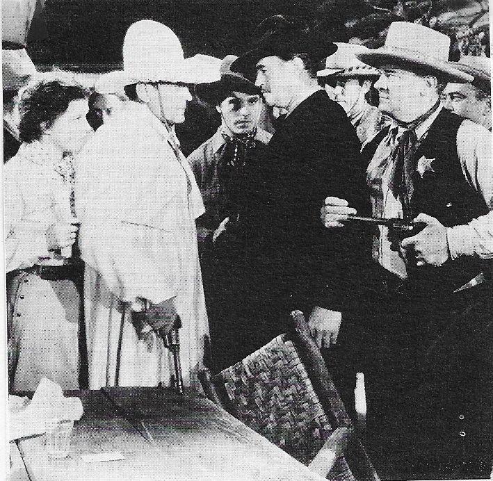 Eddie Gribbon, Buck Jones, Cactus Mack, Marla Shelton, and Harry Woods in The Phantom Rider (1936)