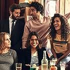 Joséphine Draï, Sabrina Ouazani, Zita Hanrot, Marc Ruchmann, Guillaume Labbé, Tom Dingler, Yvan Naubron, and Syrus Shahidi in Plan Coeur (2018)