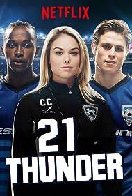 Emmanuel Kabongo, Stephanie Bennett, and RJ Fetherstonhaugh in 21 Thunder (2017)