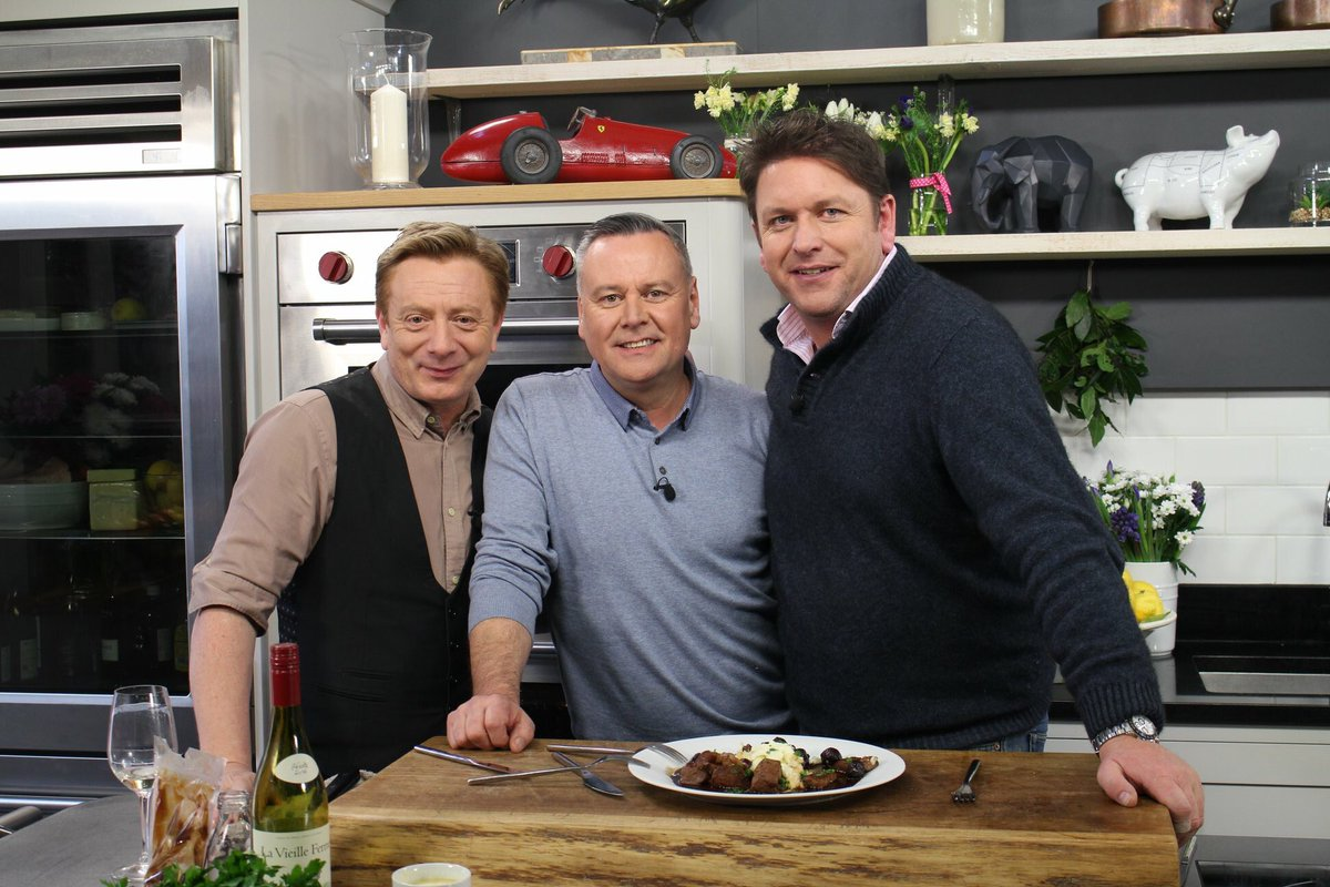 Sean Wilson, James Martin, and Tony Tobin in Saturday Morning with James Martin (2017)