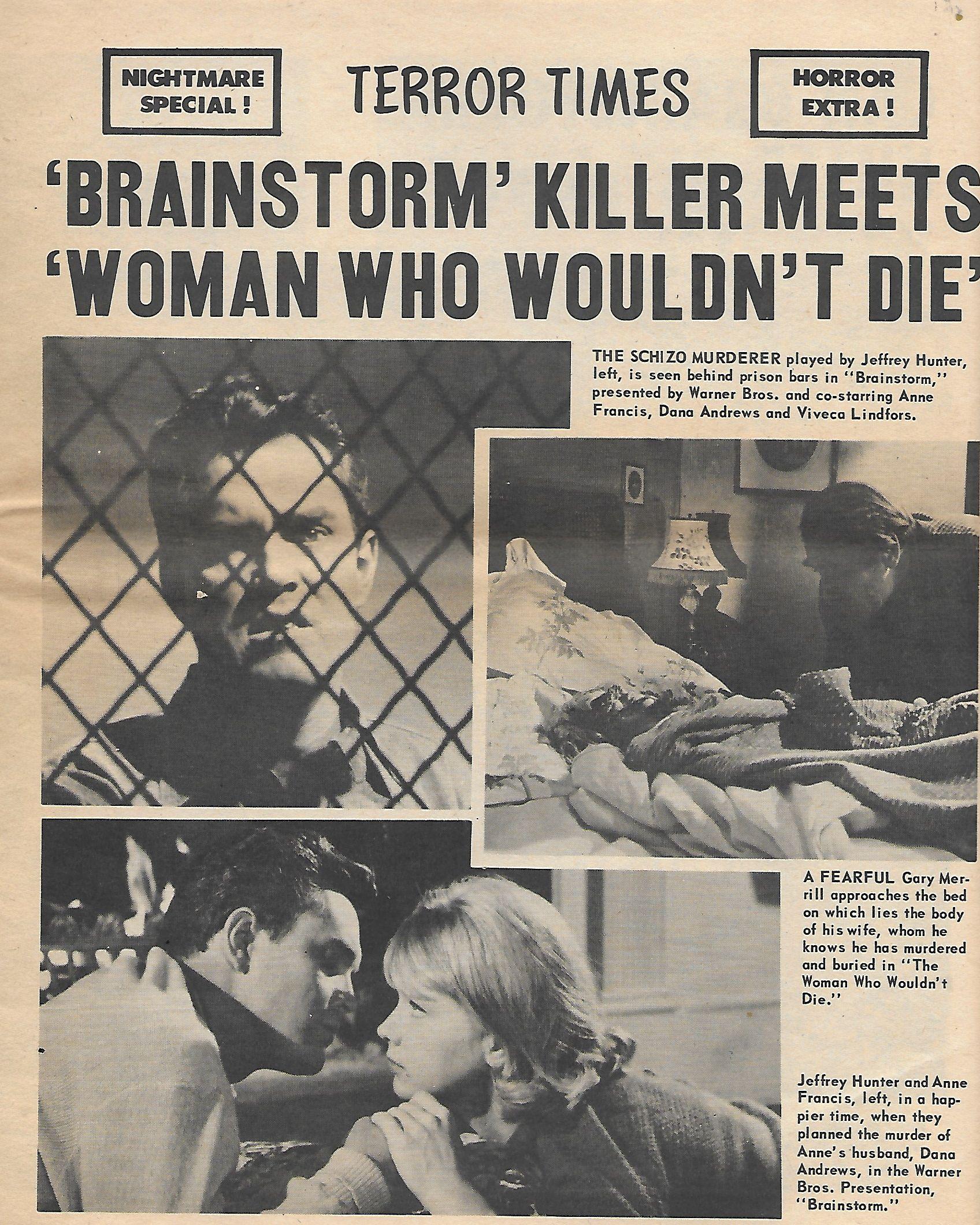 Jeffrey Hunter, Anne Francis, and Viveca Lindfors in Brainstorm (1965)