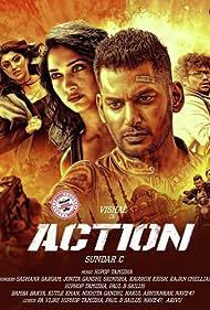Vishal, Tamannaah Bhatia, Yogi Babu, and Sha Ra in Action (2019)