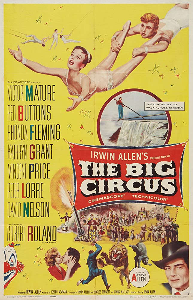 Red Buttons, Victor Mature, Kathryn Grant, David Nelson, and Gilbert Roland in The Big Circus (1959)