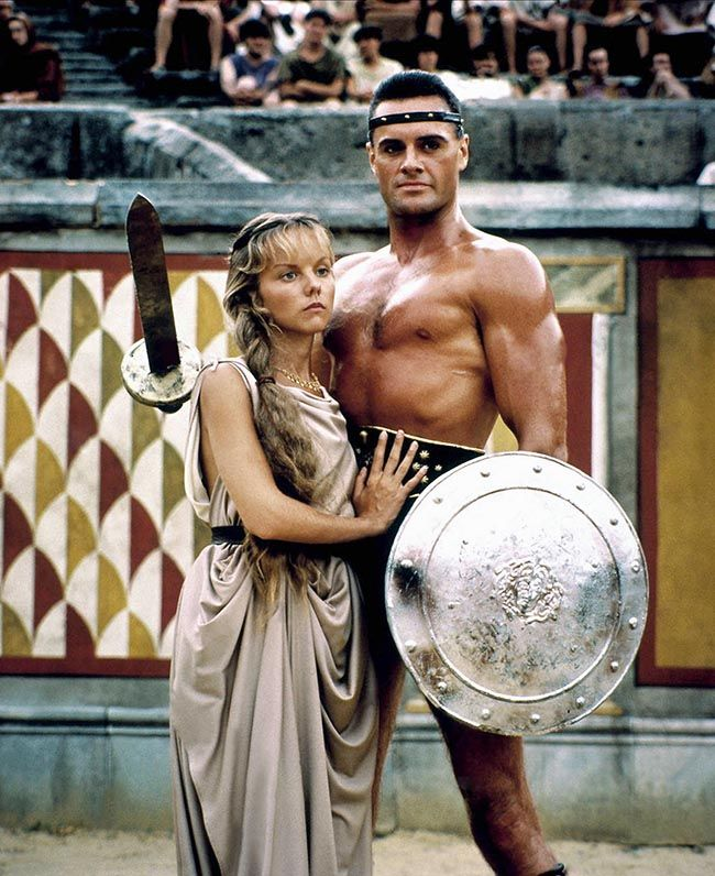 Linda Purl and Duncan Regehr in The Last Days of Pompeii (1984)