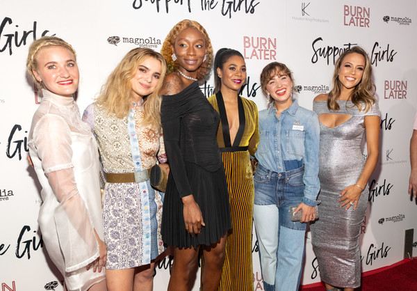 Regina Hall, AJ Michalka, Haley Lu Richardson, and Shayna McHayle at an event for Support the Girls (2018)