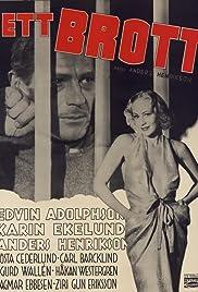 Ett brott Poster