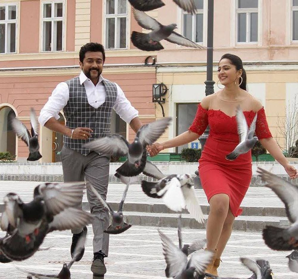 Suriya and Anushka Shetty in Singam 3 (2017)