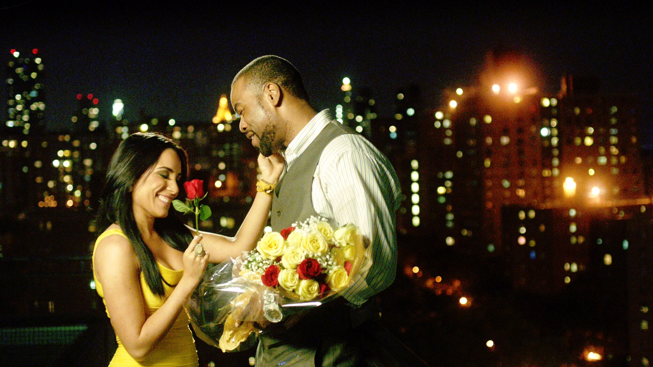 A scene from SEASON OF LOVE/Lifetime Movie of the Week L-R Ana Isabelle, Method Man.