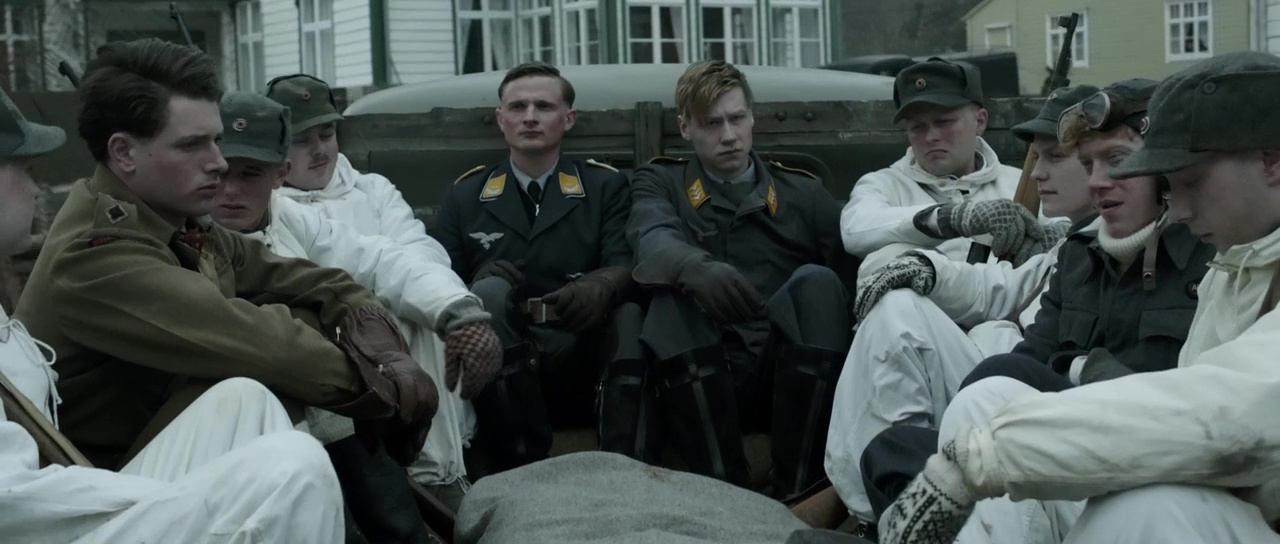 Florian Lukas, David Kross, and Lachlan Nieboer in Into the White (2012)