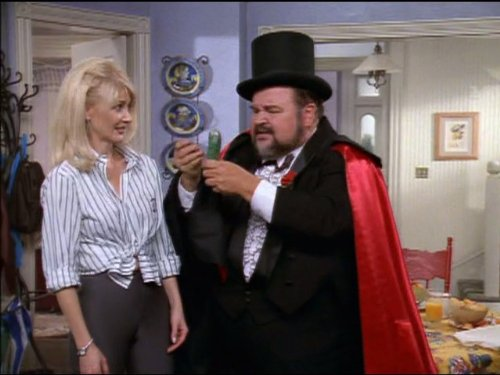 Dom DeLuise and Beth Broderick in Sabrina, the Teenage Witch (1996)