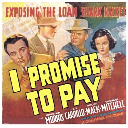 Leo Carrillo, John Gallaudet, Helen Mack, and Chester Morris in I Promise to Pay (1937)