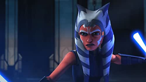 """In the final four episodes of """"The Clone Wars"""" Ahsoka faces Darth Maul in the Siege of Mandalore."""