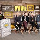 Kevin Smith, David Zellner, Nathan Zellner, Robert Pattinson, and Mia Wasikowska at an event for Damsel (2018)