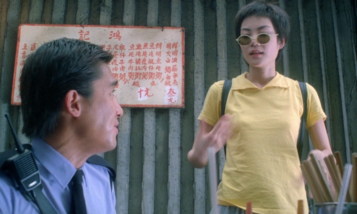Tony Chiu-Wai Leung and Faye Wong in Chung Hing Sam Lam (1994)