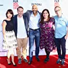 Tami Sagher, Keegan-Michael Key, Chris Gethard, Mike Birbiglia, and Kate Micucci at an event for Don't Think Twice (2016)