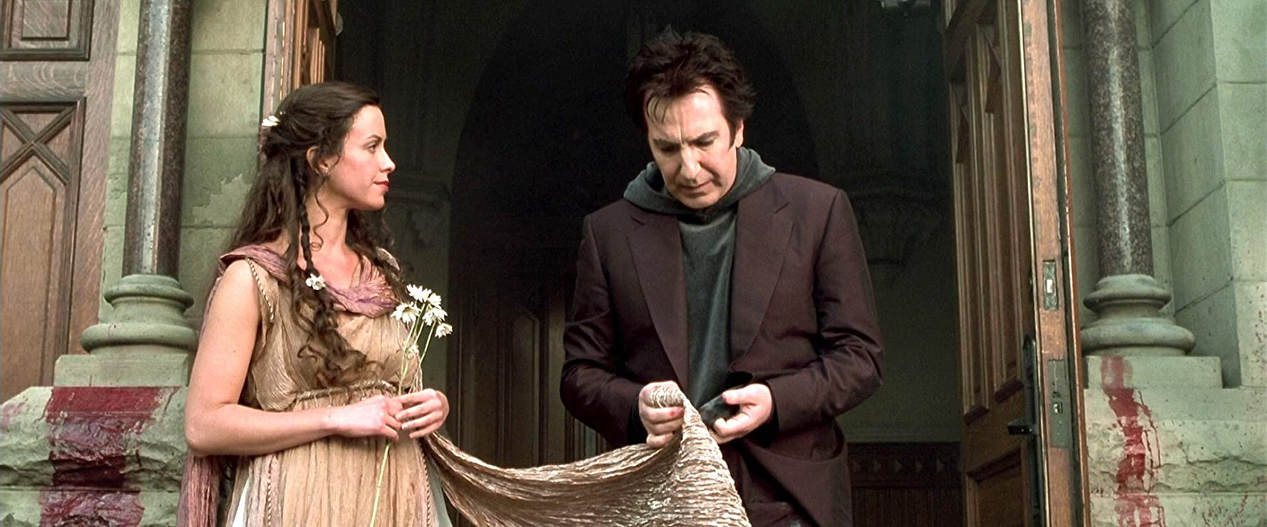 Alan Rickman and Alanis Morissette in Dogma (1999)