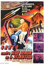 Santo vs. Blue Demon in Atlantis Poster