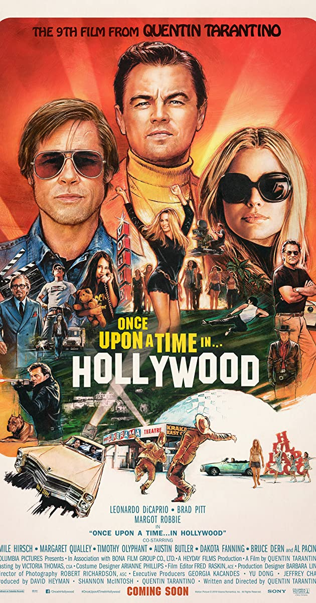 Image result for Once Upon a A time in Hollywood [poster
