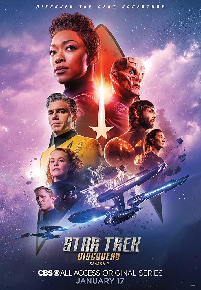 Michelle Yeoh, Doug Jones, Anson Mount, Ethan Peck, Anthony Rapp, Sonequa Martin-Green, and Mary Wiseman in Star Trek: Discovery (2017)