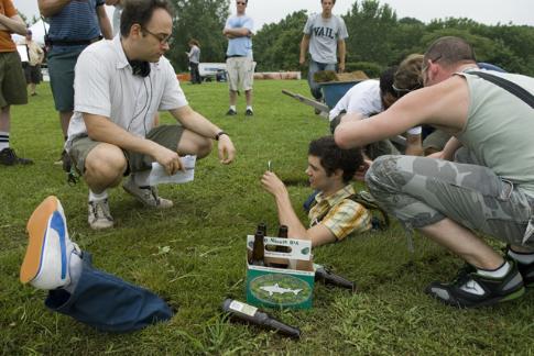 Adam Brody and David Wain in The Ten (2007)