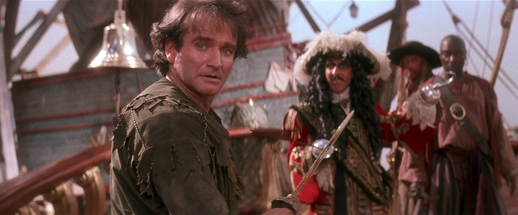 Dustin Hoffman and Robin Williams in Hook (1991)