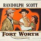 Randolph Scott, David Brian, and Phyllis Thaxter in Fort Worth (1951)