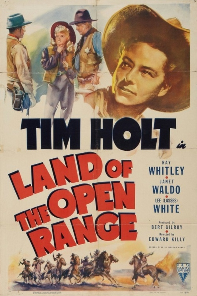 Jack Holmes, Tim Holt, and Janet Waldo in Land of the Open Range (1942)