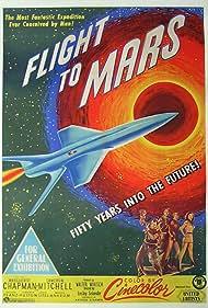 Marguerite Chapman, Arthur Franz, Virginia Huston, and Cameron Mitchell in Flight to Mars (1951)
