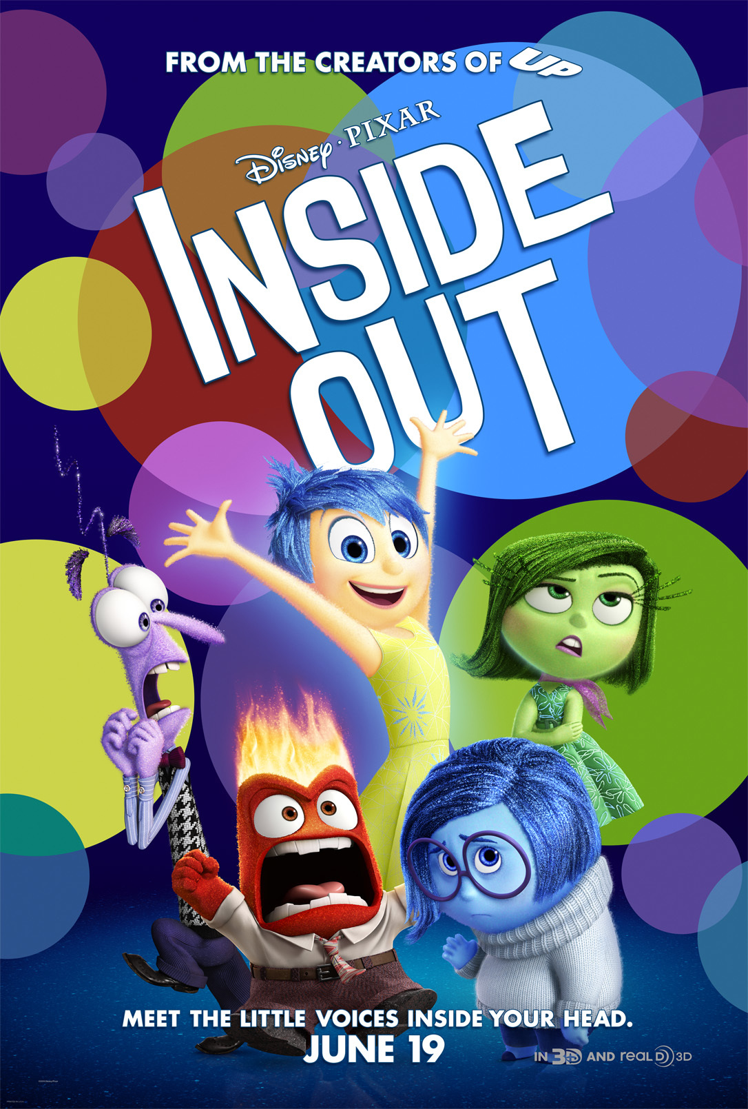 Image result for inside out movie poster imdb""