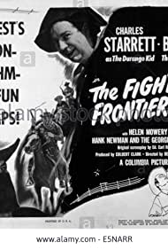 Smiley Burnette and Charles Starrett in The Fighting Frontiersman (1946)