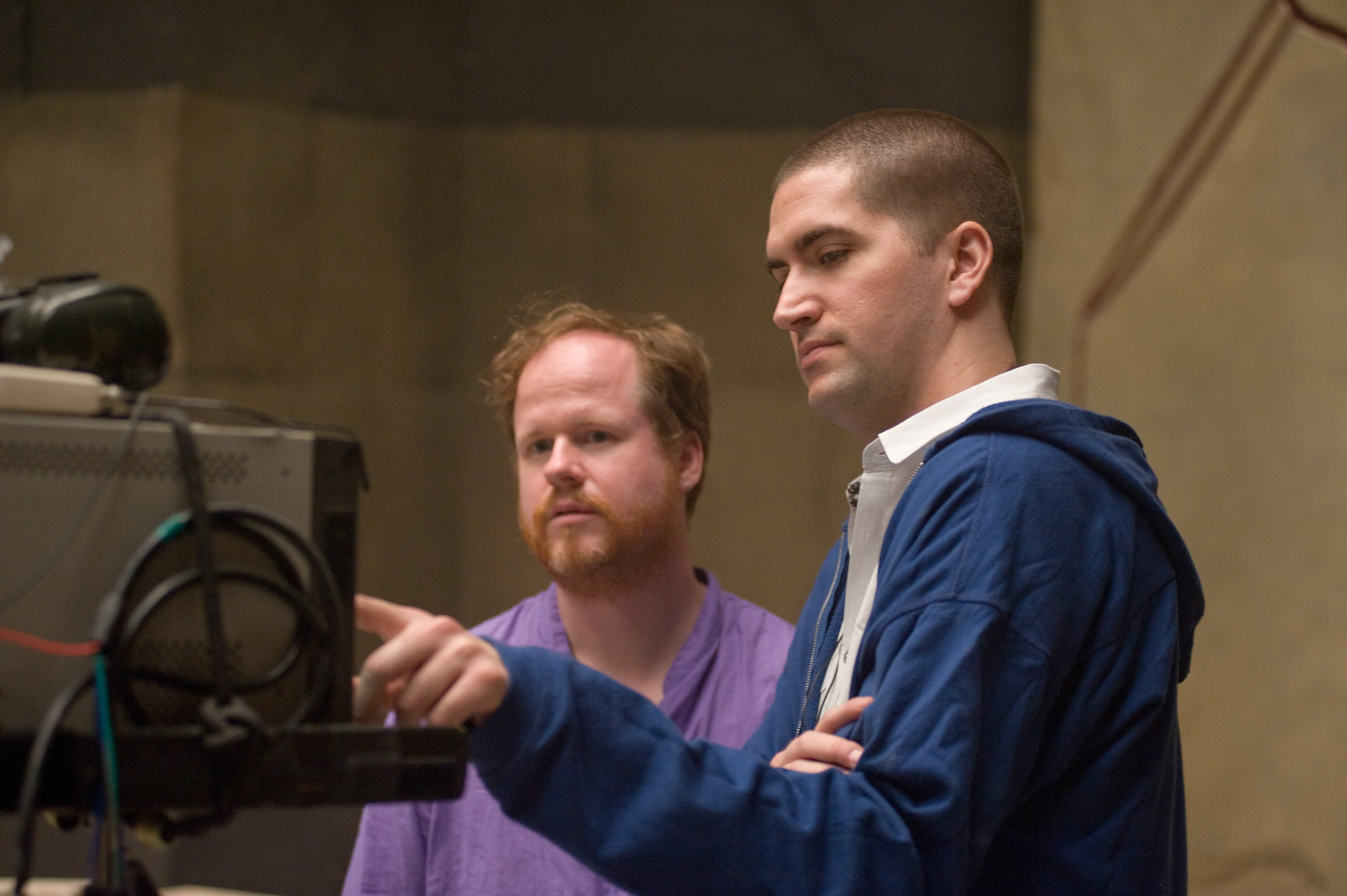 Joss Whedon and Drew Goddard in The Cabin in the Woods (2011)