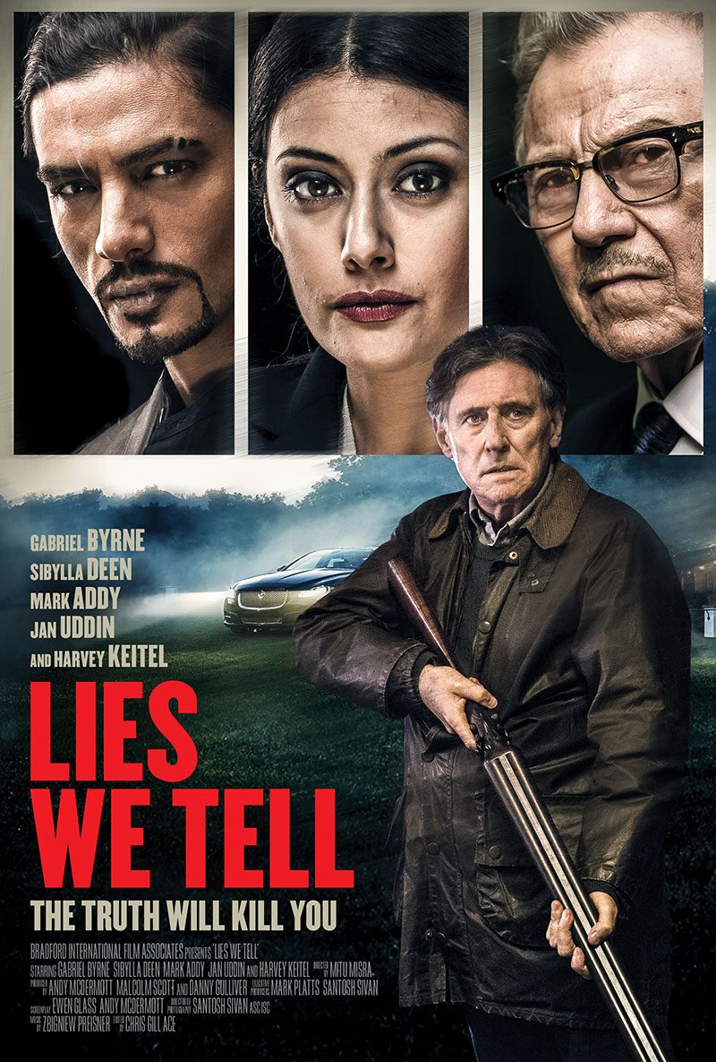 Harvey Keitel, Gabriel Byrne, Mark Addy, Sibylla Deen, and Jan Uddin in Lies We Tell (2017)