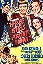 Joan Blondell, Binnie Barnes, Robert Benchley, Janet Blair, and John Howard in Three Girls About Town (1941)