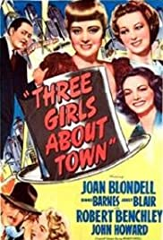 Three Girls About Town Poster