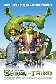 Antonio Banderas, Cameron Diaz, Mike Myers, Eddie Murphy, and Conrad Vernon in Shrek the Third (2007)