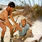 Stanley Baker and Stuart Whitman in Sands of the Kalahari (1965)