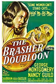 Nancy Guild, Conrad Janis, and George Montgomery in The Brasher Doubloon (1947)