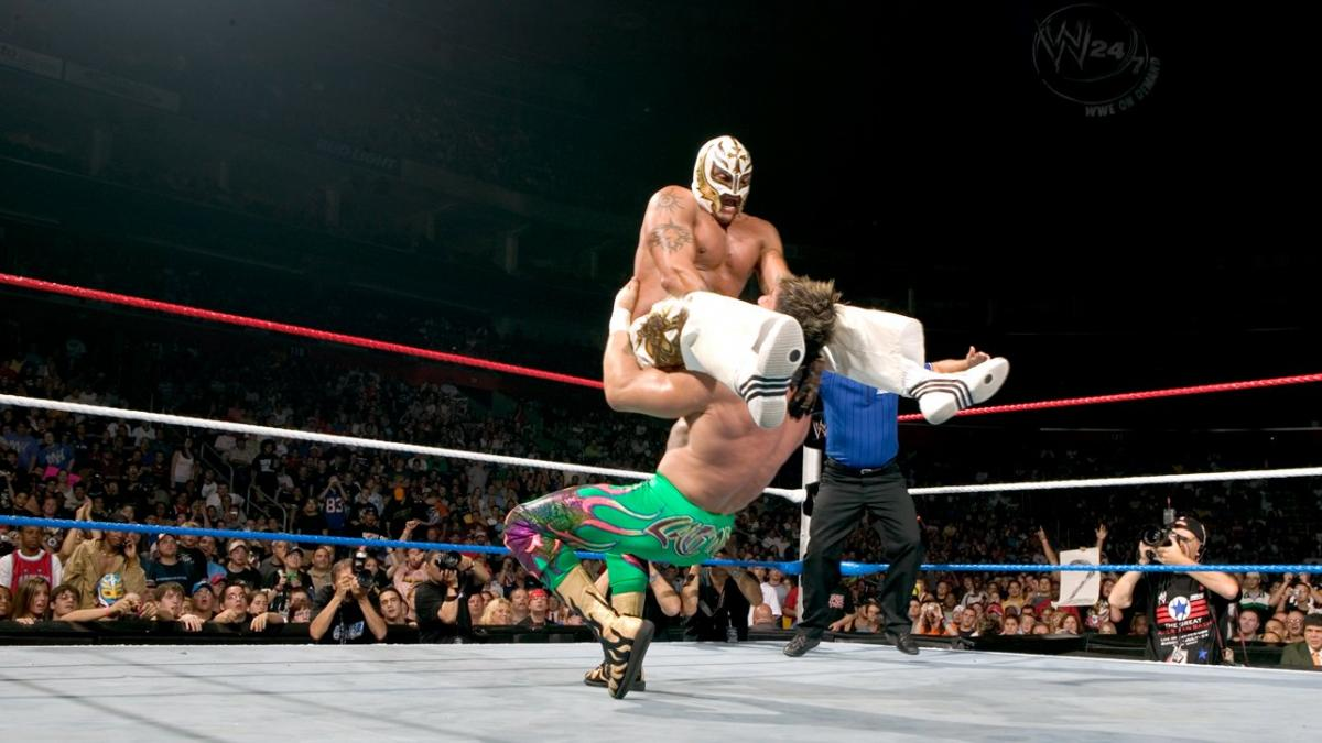 Eddie Guerrero and Rey Mysterio in The Great American Bash (2005)