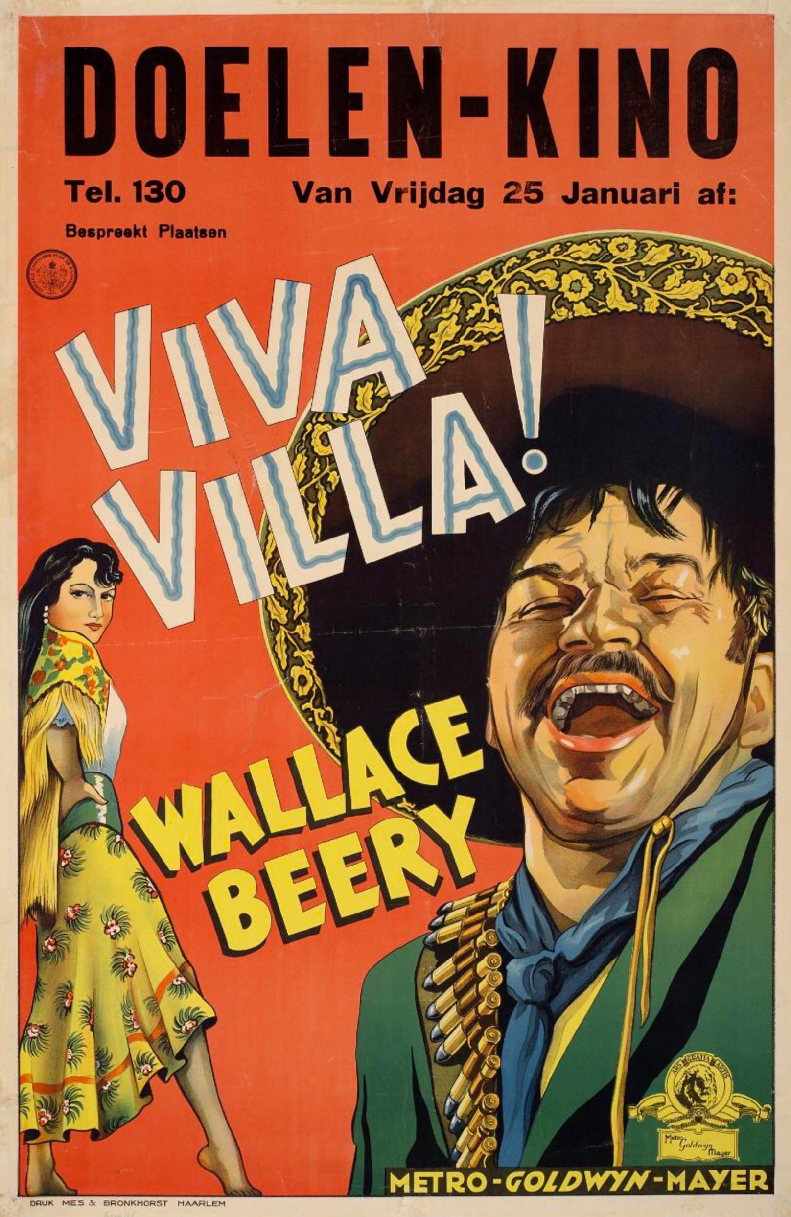 Wallace Beery and Katherine DeMille in Viva Villa! (1934)