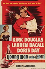 Lauren Bacall, Doris Day, Kirk Douglas, and Hoagy Carmichael in Young Man with a Horn (1950)