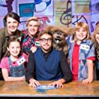 Naomi Wilkinson, Bobby Lockwood, Iain Stirling, and Dodge T. Dog in The Dog Ate My Homework (2014)