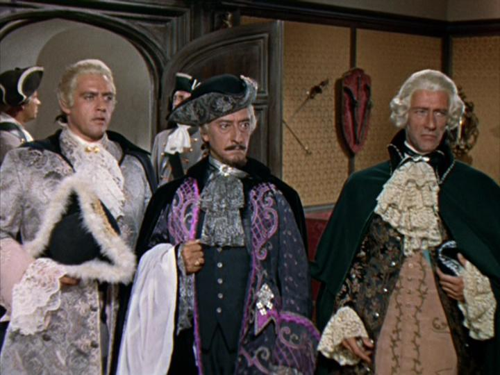 Raymond Burr, John Carradine, and Arnold Moss in Casanova's Big Night (1954)