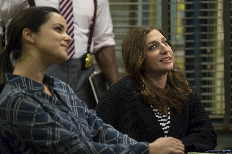 Melissa Fumero and Chelsea Peretti in Brooklyn Nine-Nine (2013)