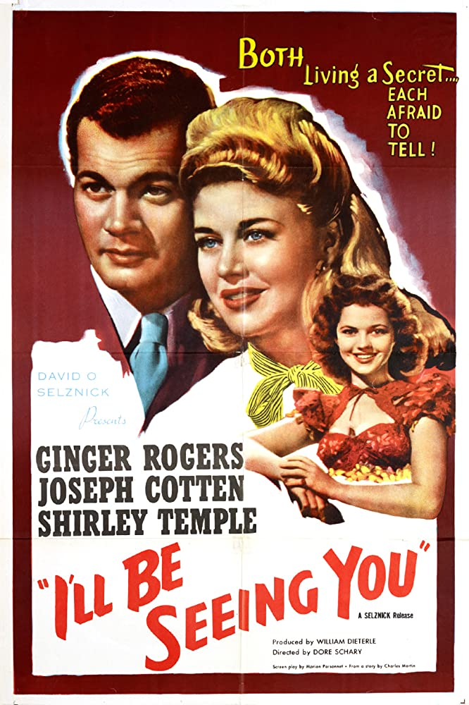 Shirley Temple, Joseph Cotten, and Ginger Rogers in I'll Be Seeing You (1944)
