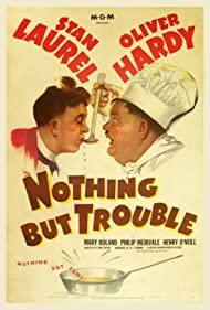Oliver Hardy and Stan Laurel in Nothing But Trouble (1944)