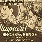 Ken Maynard and Harry Woods in Heroes of the Range (1936)