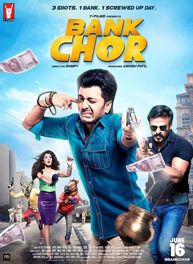 Bank Chor (2017) Hindi 720p HEVC HDRip x265 ESubs [550MB] Full Bollywood Movie
